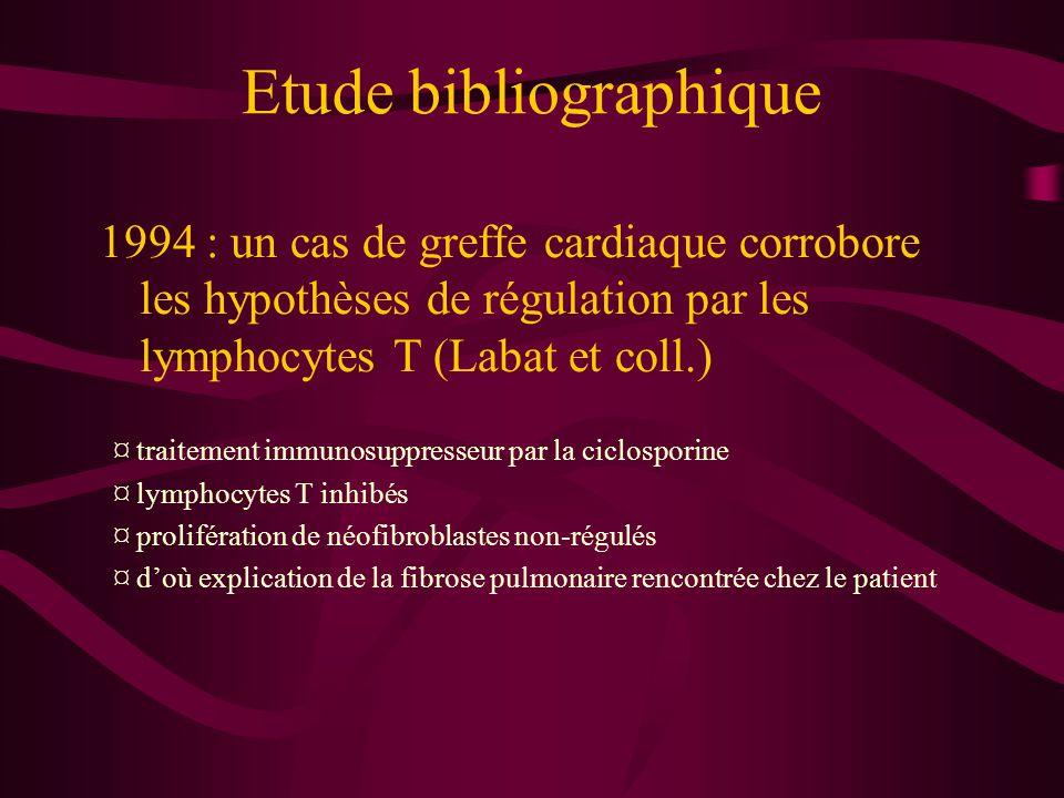 Etude bibliographique 1995 : un cas de vitréorétinopathie humaine (Reuter et coll.) où les monocytes se différencient en fibroblastes ¤ recherche de l'origine de la prolifération de fibroblastes dans cette maladie par emploi d'humeur vitrée de veau ¤ mise en évidence de marqueurs CD11c, CD18 et CD68 qui marquent les monocytes/macrophages ¤ d'où explication de la fibrose du corps vitré