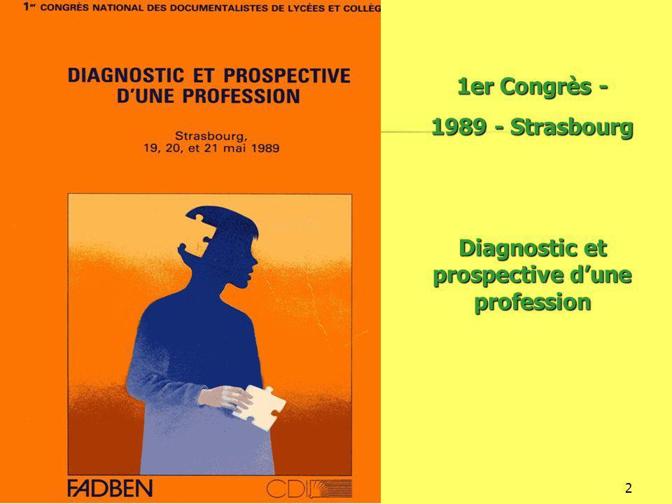 16/12/20143 2ème Congrès – 1991 – Poitiers Communication, documentation, information dans l'enseignement secondaire en Europe