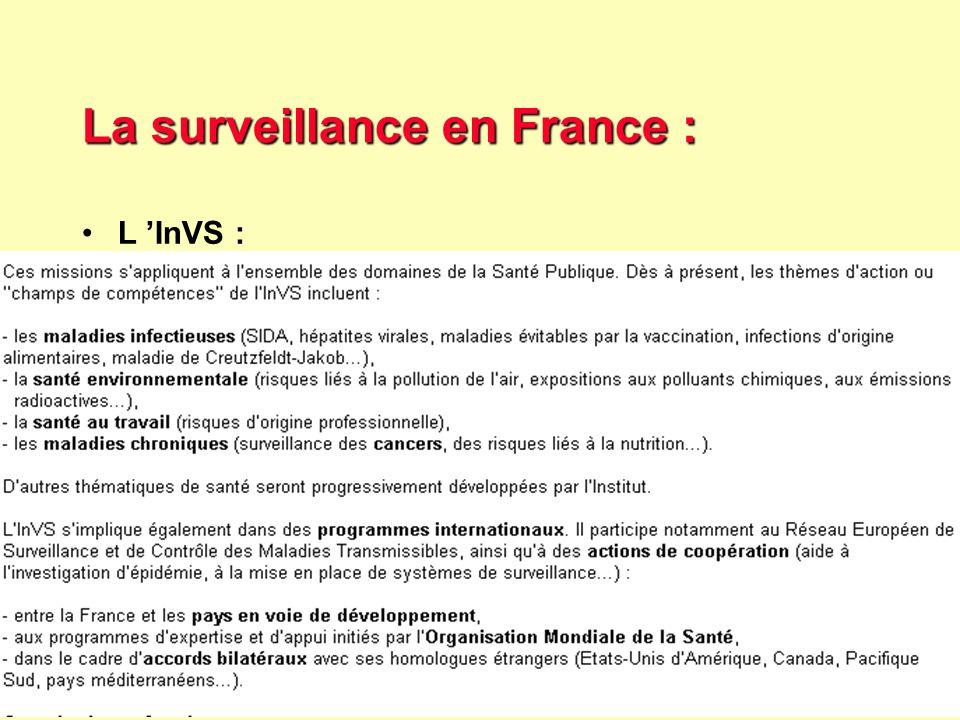 33 Robert J. FREUND Surveillance en santé publique Master Complexes pathogènes tropicaux novembre 2003 La surveillance en France : les agences Les age