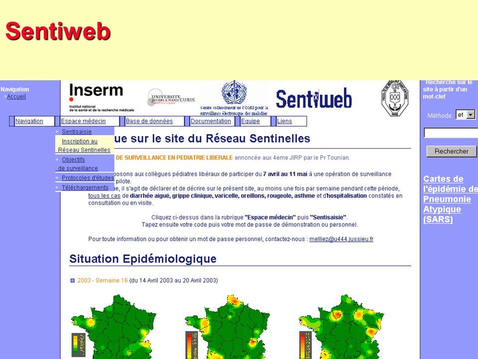 38 Robert J. FREUND Surveillance en santé publique Master Complexes pathogènes tropicaux novembre 2003 La surveillance en France : Les réseaux sentine