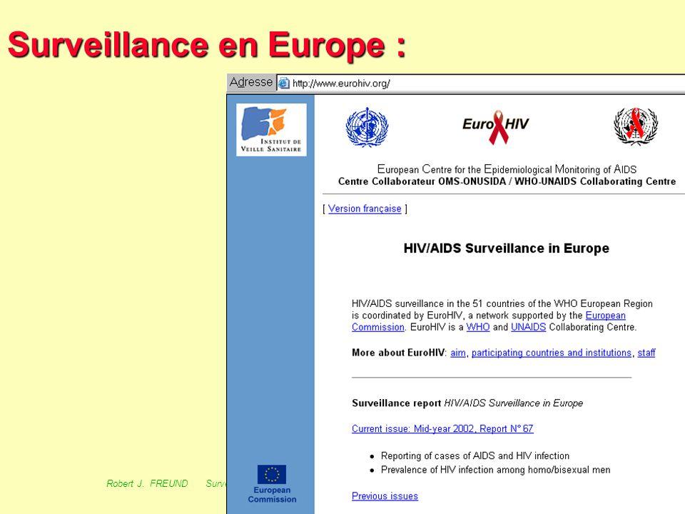 63 Robert J. FREUND Surveillance en santé publique Master Complexes pathogènes tropicaux novembre 2003 Surveillance au R.U. : 1/- Index thématique 2/-