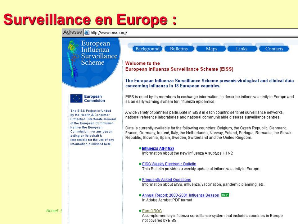 67 Robert J. FREUND Surveillance en santé publique Master Complexes pathogènes tropicaux novembre 2003 EuroTB : 1/- EuroTB suite 2/- Un exemple EuroTB