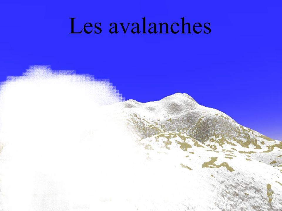 Front de cassure au départ d'une avalanche de plaque
