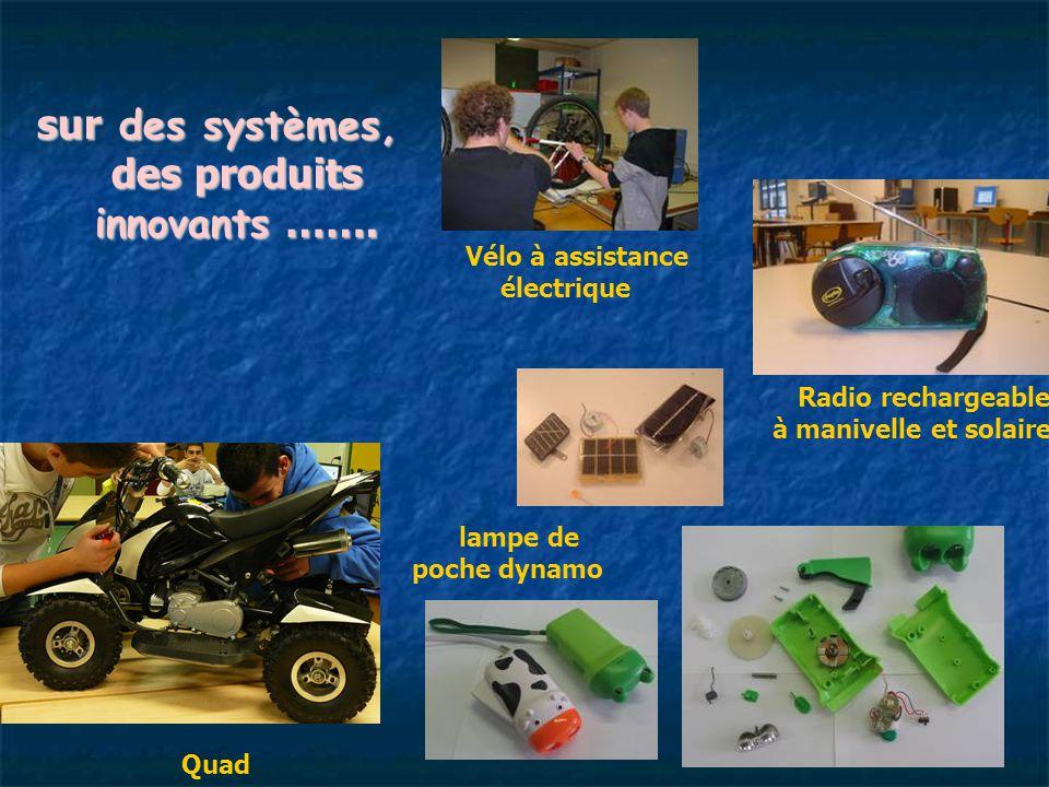 sur des systèmes, des produits innovants …….