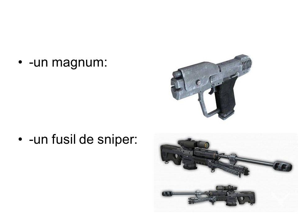 -un magnum: -un fusil de sniper: