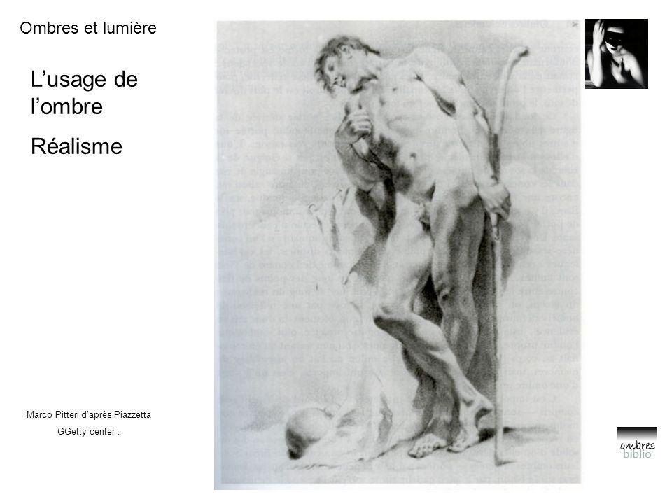 Ombres et lumière L'usage de l'ombre Réalisme Marco Pitteri d'après Piazzetta GGetty center.