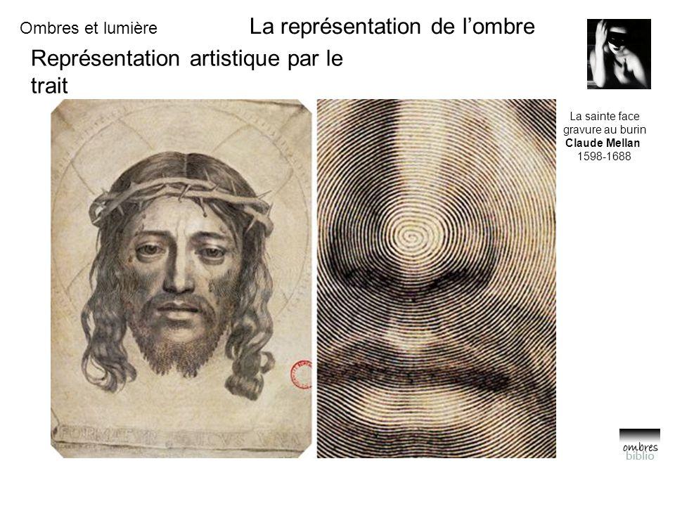 Ombres et lumière La représentation de l'ombre Représentation artistique par le trait La sainte face gravure au burin Claude Mellan 1598-1688