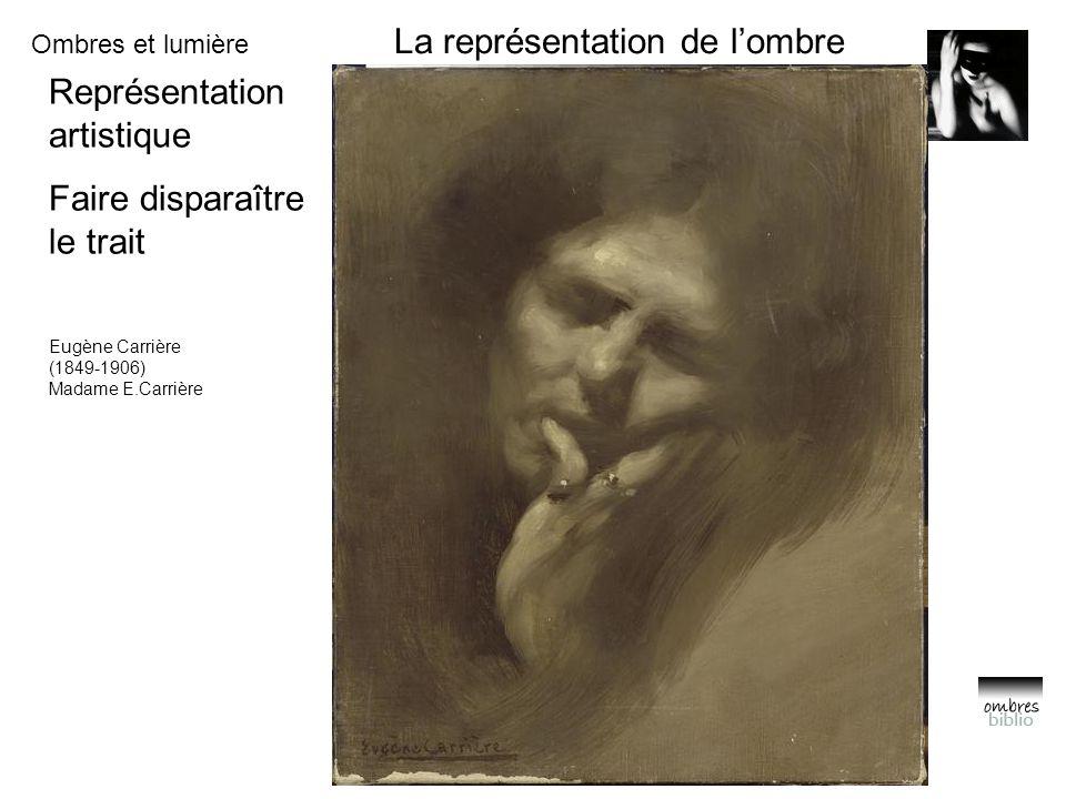 Ombres et lumière La représentation de l'ombre Représentation artistique Faire disparaître le trait Eugène Carrière (1849-1906) Madame E.Carrière