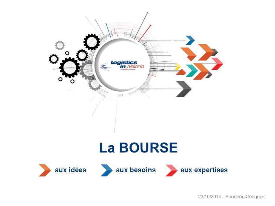 1 23/10/2014 - Houdeng-Goegnies La BOURSE 23/10/2014 - Houdeng-Goegnies aux idéesaux besoinsaux expertises