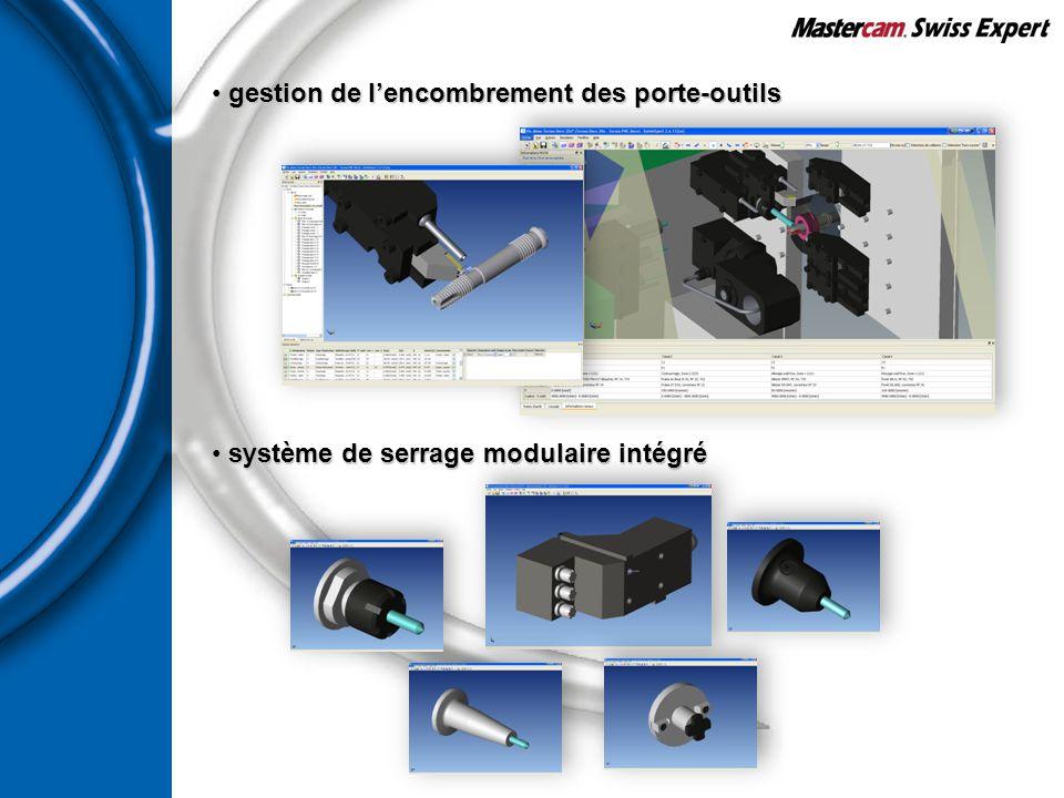 gestion de l'encombrement des porte-outils gestion de l'encombrement des porte-outils système de serrage modulaire intégré système de serrage modulair