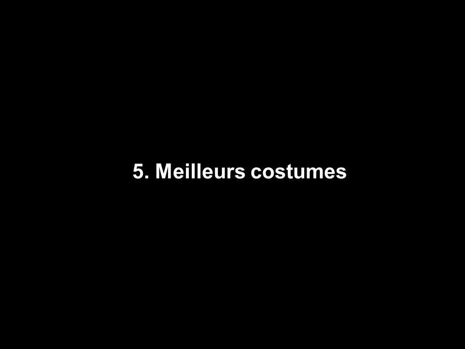 5. Meilleurs costumes