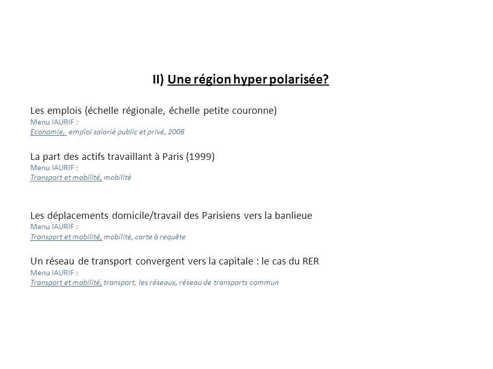 II) Une région hyper polarisée.