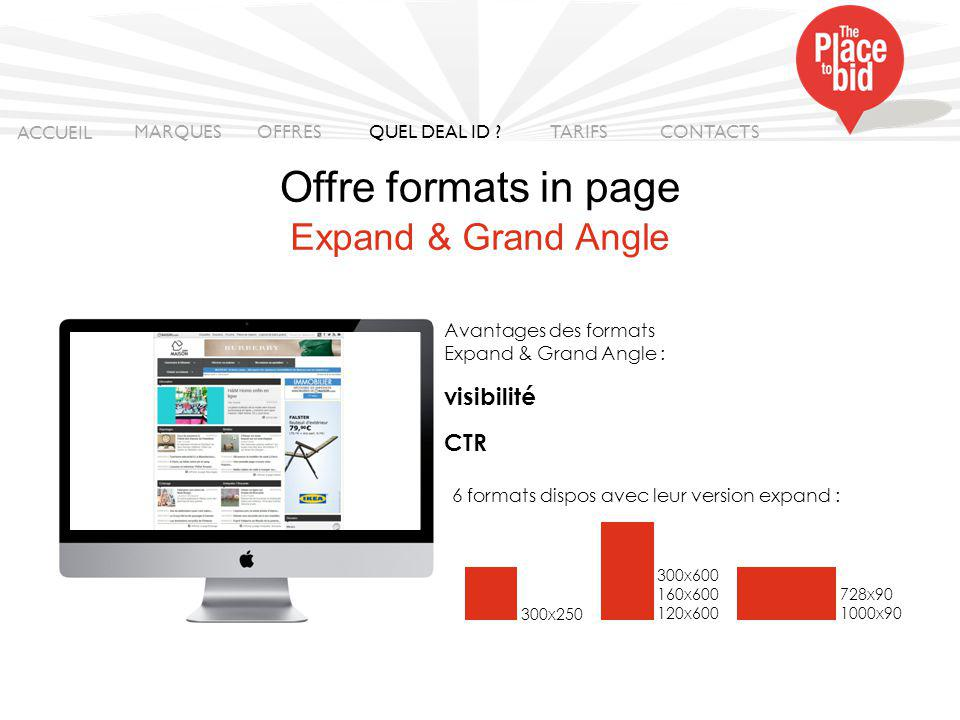 Offre format in page ACCUEIL MARQUES OFFRES CONTACTS QUEL DEAL ID .