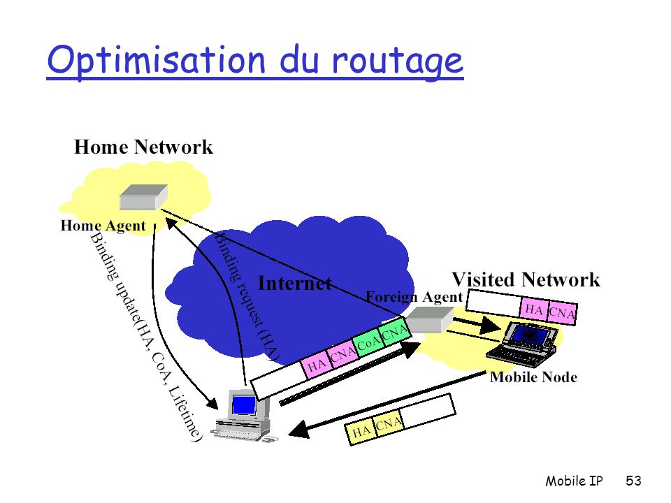 Mobile IP53 Optimisation du routage