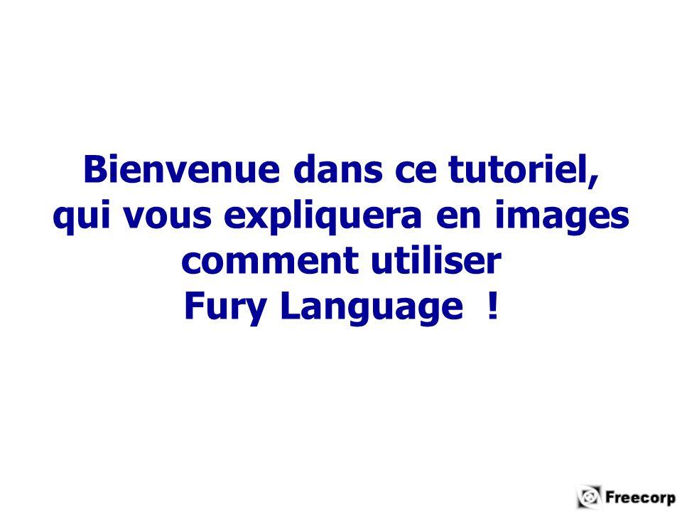 Bienvenue dans ce tutoriel, qui vous expliquera en images comment utiliser Fury Language !