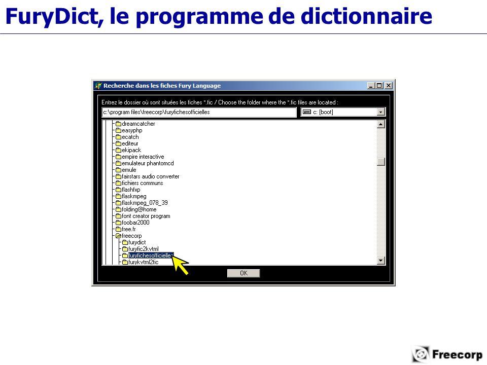 FuryDict, le programme de dictionnaire