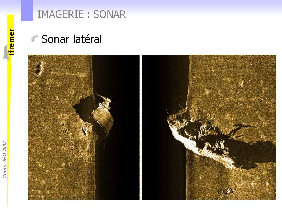 Cours UBO 2008 Sonar latéral IMAGERIE : SONAR