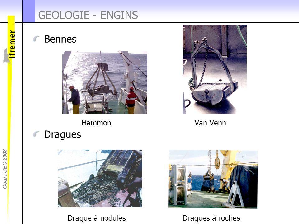 Cours UBO 2008 Bennes Hammon Van Venn Dragues Drague à nodules Dragues à roches GEOLOGIE - ENGINS