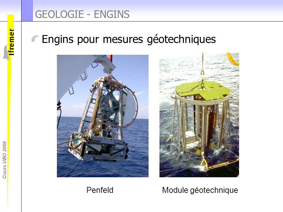 Cours UBO 2008 Engins pour mesures géotechniques GEOLOGIE - ENGINS PenfeldModule géotechnique
