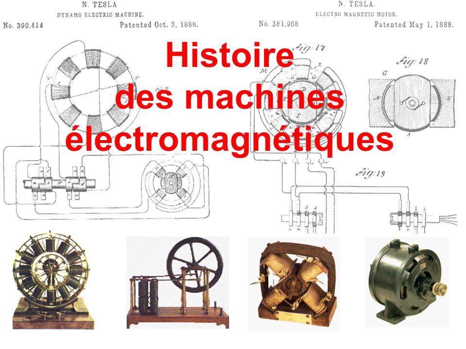 1884 Lucien Gaulard (1850-1888) Histoire Les machines électriques le premier modèle est imparfait, Le circuit magnétique est ouvert, le transfert d'énergie du primaire au secondaire est médiocre.