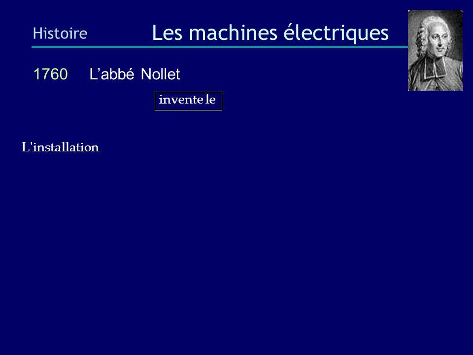 1760 Benjamin Franklin Histoire Les machines électriques L installation des premiers paratonnerres, en France, a provoqué de véritables scènes d émeute.