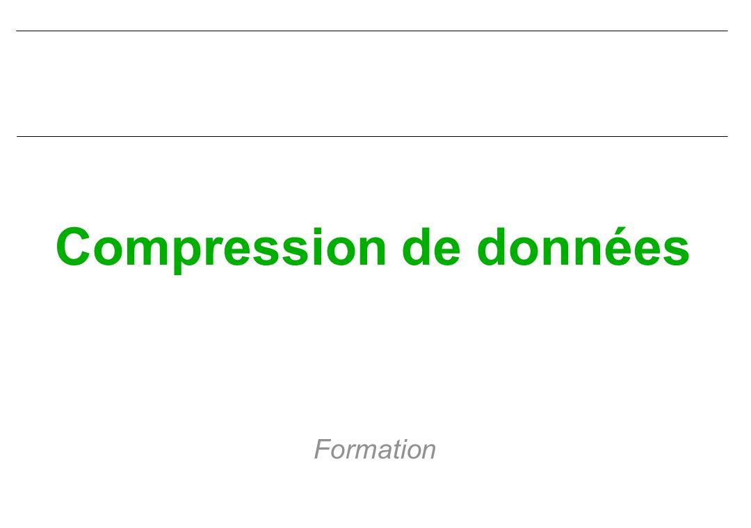 Compression de données Formation