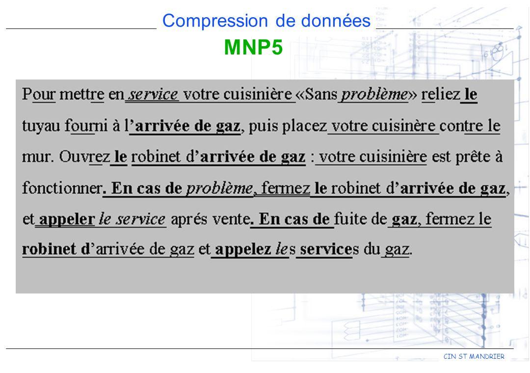CIN ST MANDRIER Compression de données MNP5