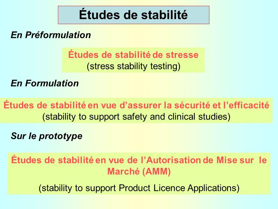 Conditions d'études (Harmonisation)