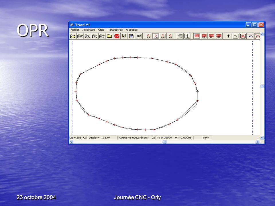 23 octobre 2004Journée CNC - Orly OPR