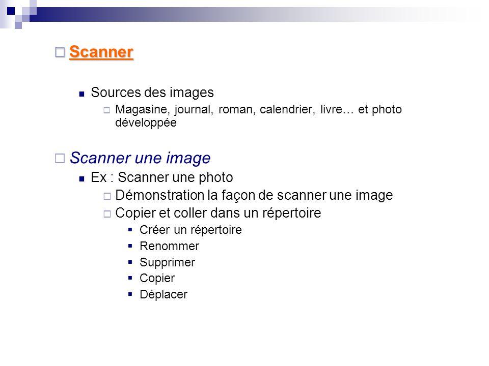  Appareil photo  Appareil photo (appareil numérique) Ex : Prendre une photo de la salle  Connecter l'appareil à l'ordinateur par « USB port »  Explorer (Ctrl+E)  Copier et coller l'image dans son ordinateur Déconnecter l'appareil Window Explorer (Ctrl+E)