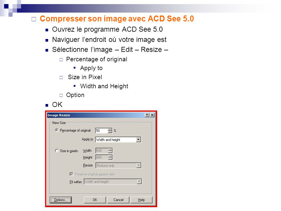 4. Compresser / Convertir son image avec ACD See 5.0 4.