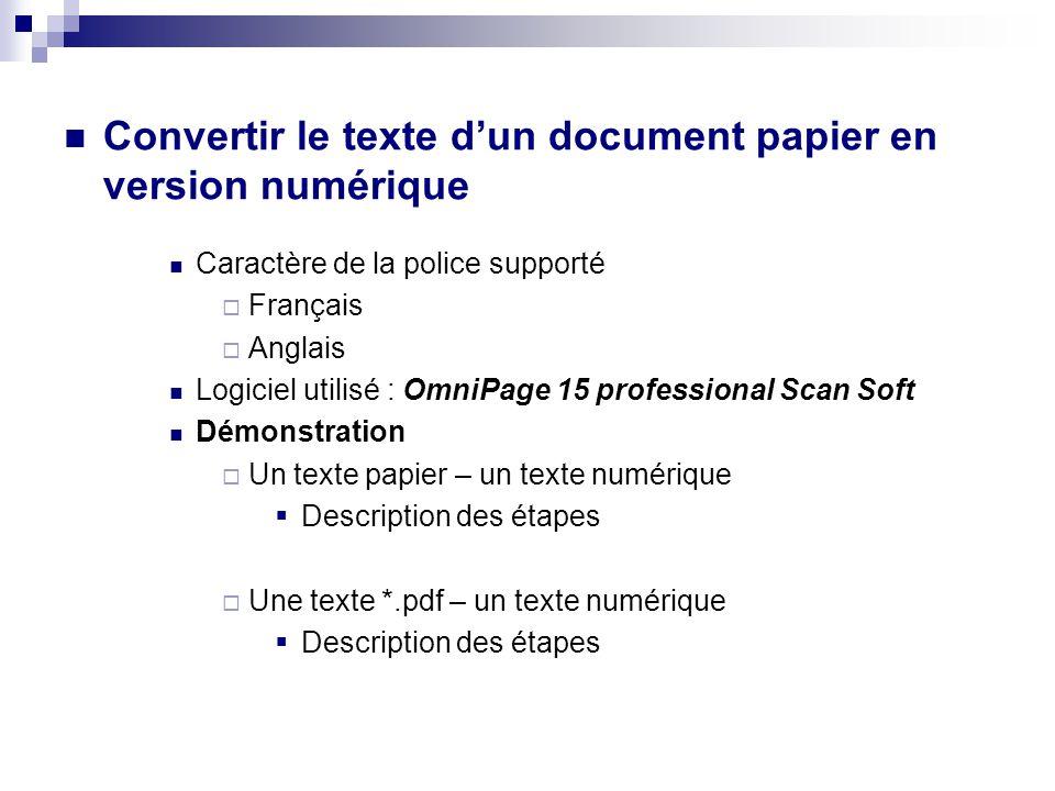 1. Copier le texte d'un document sur internet et le coller dans le traitement de texte (MS-Word) DDémonstration 2. Copier le texte d'un document au