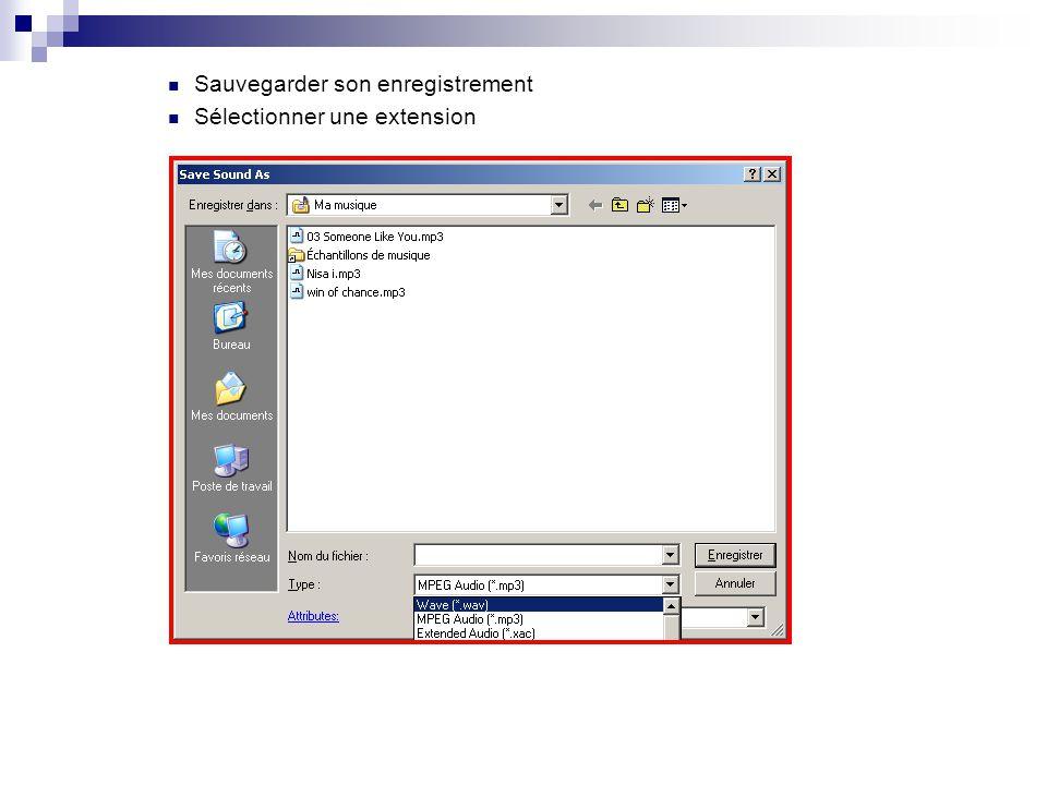 2. Enregistrer le son avec Gold Wave 10.0  Enregistrer le son played dans son ordinateur  Ex : Internet  Ouvrez le programme Gold Wave 10.0  Créer