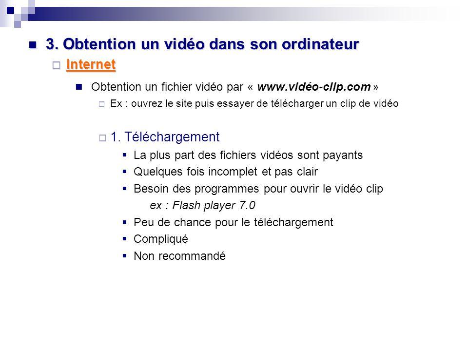 2. Comment faire pour savoir que c'est un Vidéo. 2.