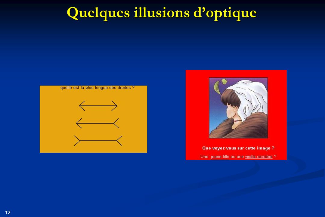 12 Quelques illusions d'optique