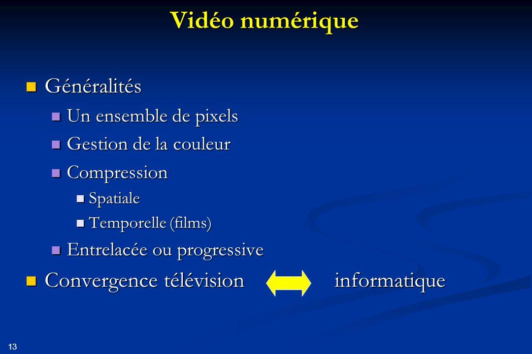 14 Un ensemble de pixels Pixel Luminosité couleurs Nombre de lignes Nombre de points par lignes constantes