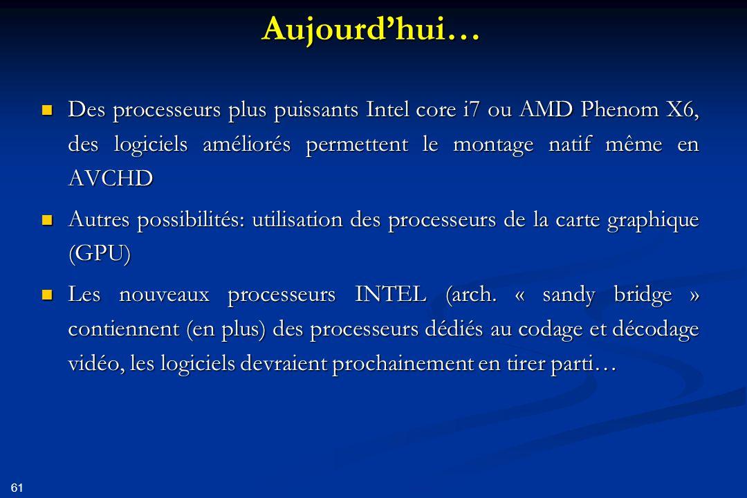 62 Le rendu (film terminé) Indispensable: faire une rendu avec le format et le codec d'origine Indispensable: faire une rendu avec le format et le codec d'origine Le sauvegarder, éventuellement sur cassette DV Le sauvegarder, éventuellement sur cassette DV Rendus pour diffusion: Rendus pour diffusion: En SD  DVD En SD  DVD En HD  DVD (mais en SD) En HD  DVD (mais en SD) Blue Ray ?.