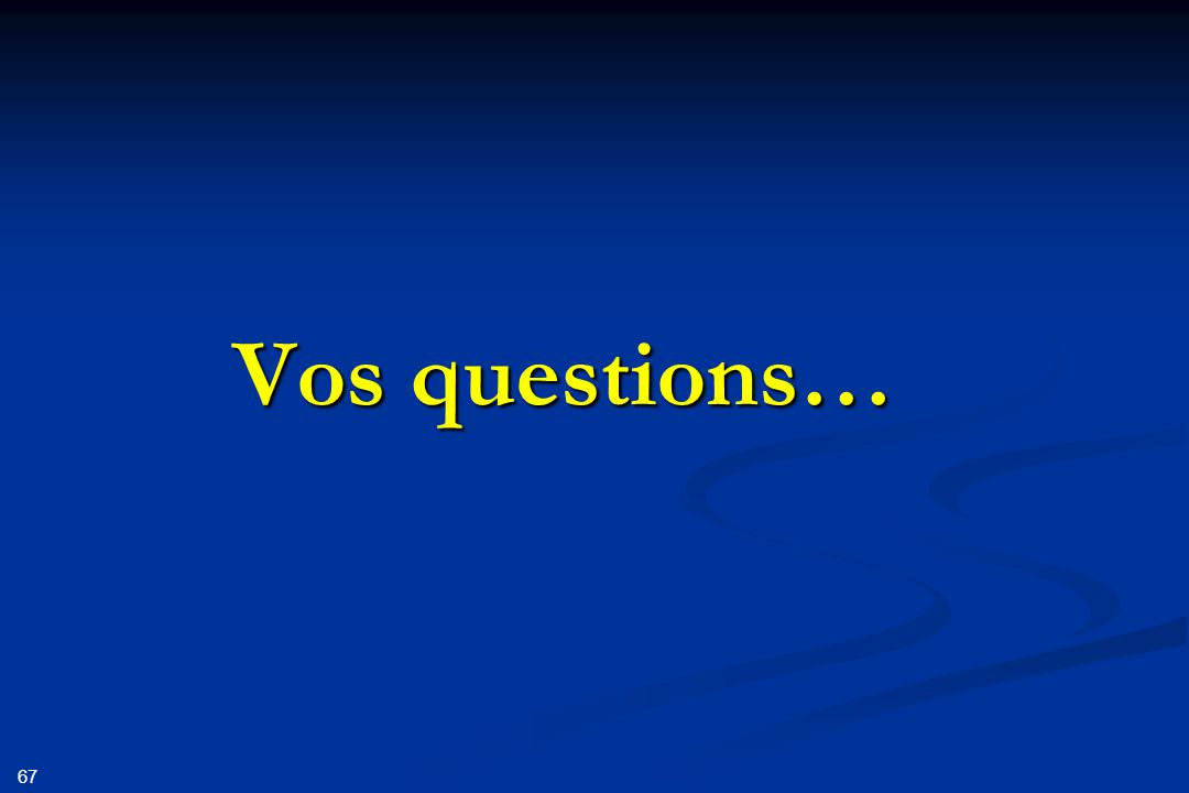 67 Vos questions…
