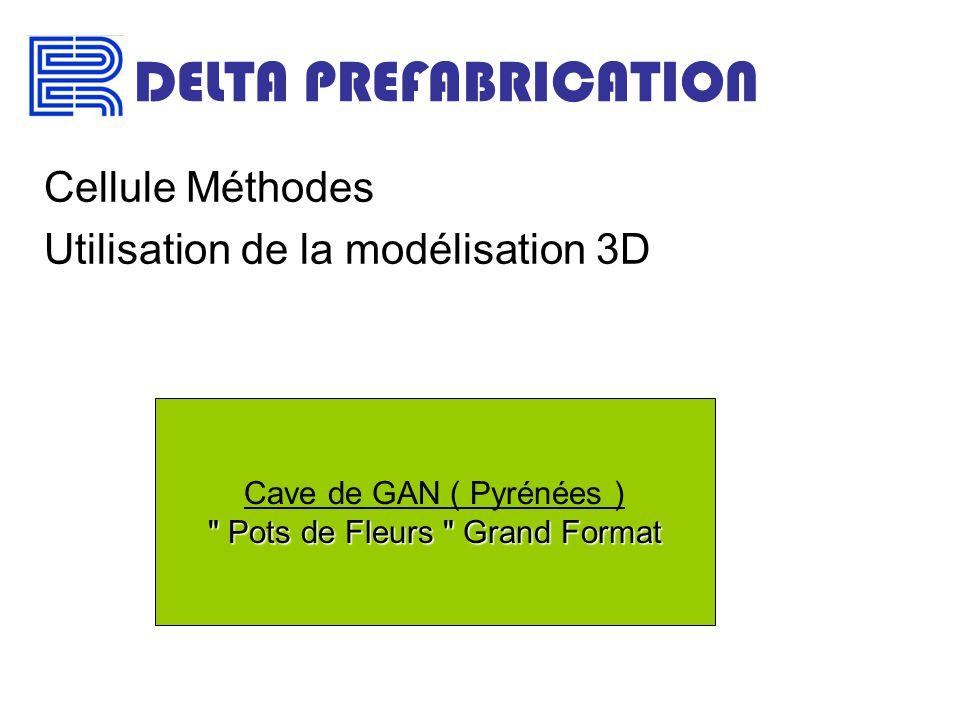 DELTA PREFABRICATION Cellule Méthodes Utilisation de la modélisation 3D