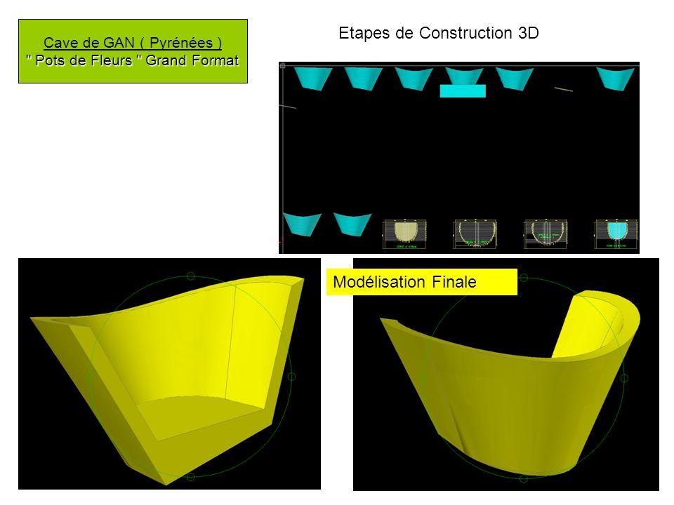 Pots de Fleurs Grand Format Cave de GAN ( Pyrénées ) Pots de Fleurs Grand Format Etapes de Construction 3D Modélisation Finale
