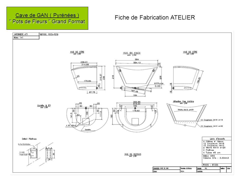 Pots de Fleurs Grand Format Cave de GAN ( Pyrénées ) Pots de Fleurs Grand Format Fiche de Fabrication ATELIER