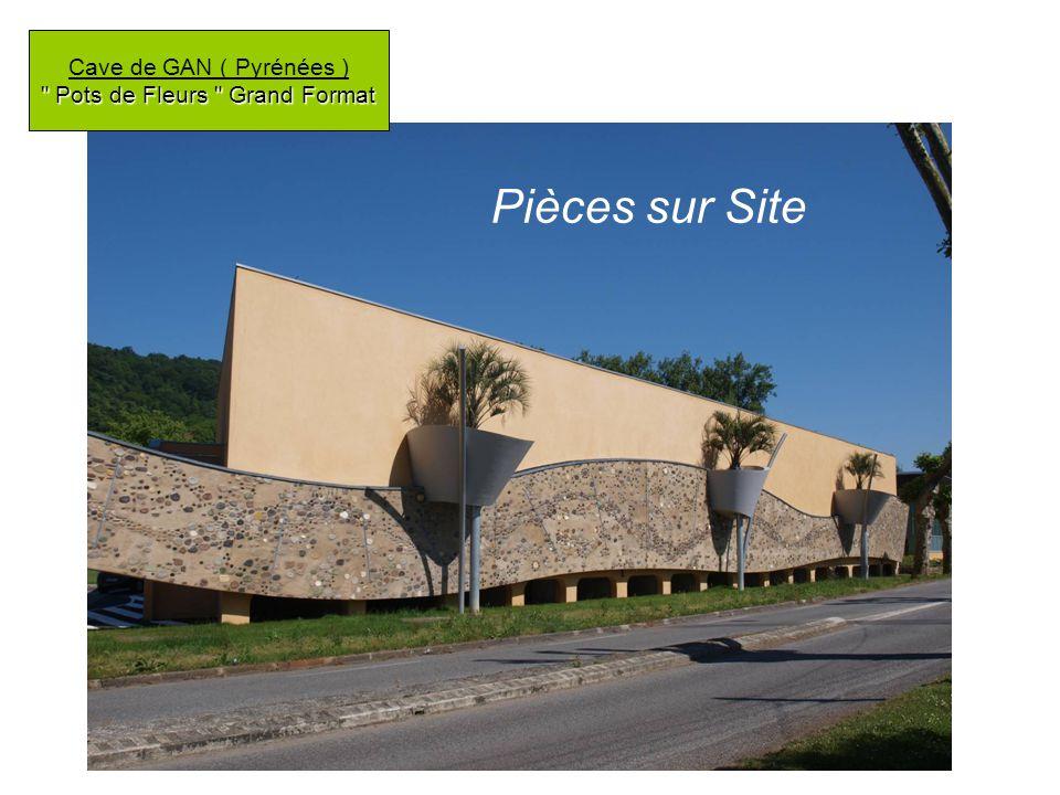 Pots de Fleurs Grand Format Cave de GAN ( Pyrénées ) Pots de Fleurs Grand Format Pièces sur Site