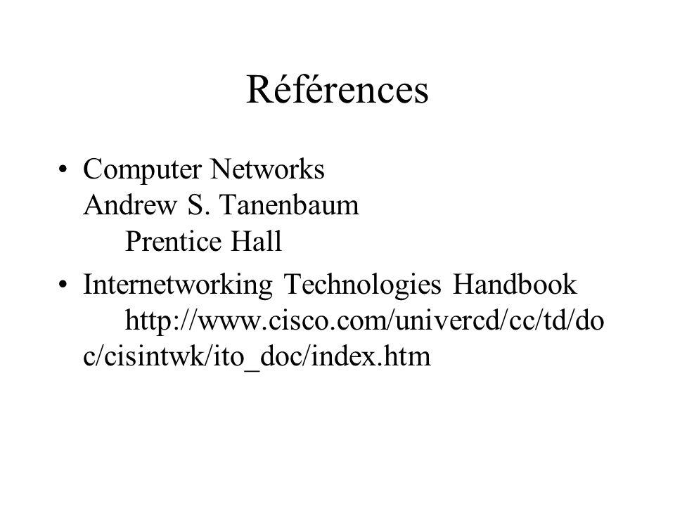 Références Computer Networks Andrew S.