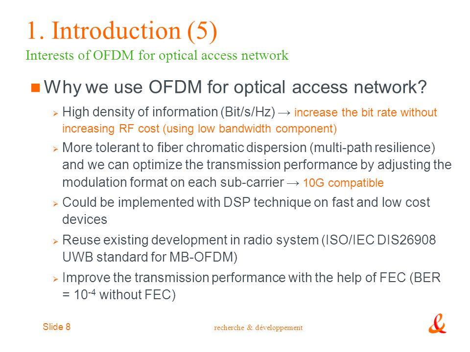 recherche & développement Slide 29 1.
