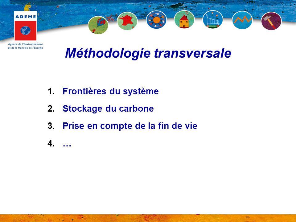 1.Frontières du système 2.Stockage du carbone 3.Prise en compte de la fin de vie 4.… Méthodologie transversale