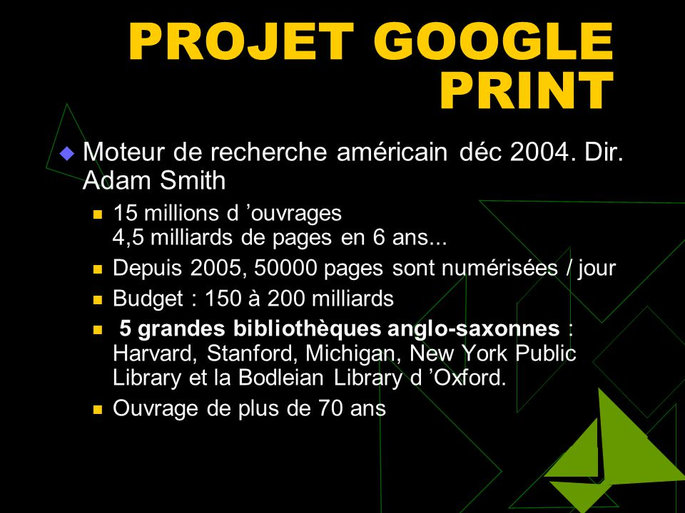 Bib. francophones  GALLICA (BNF)- type encyclopédique  C.N.R.S (CNRTLorraine). ATILF  I.N.A (Institut National de l'Audiovisuel )  LISIEUX. La pre