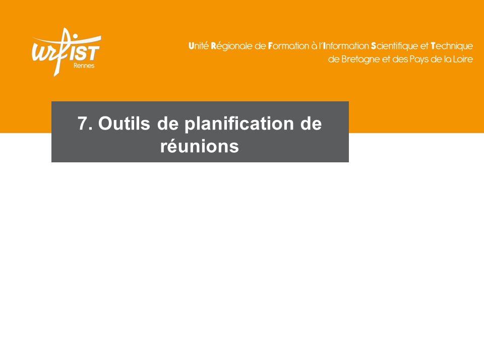 104 7. Outils de planification de réunions