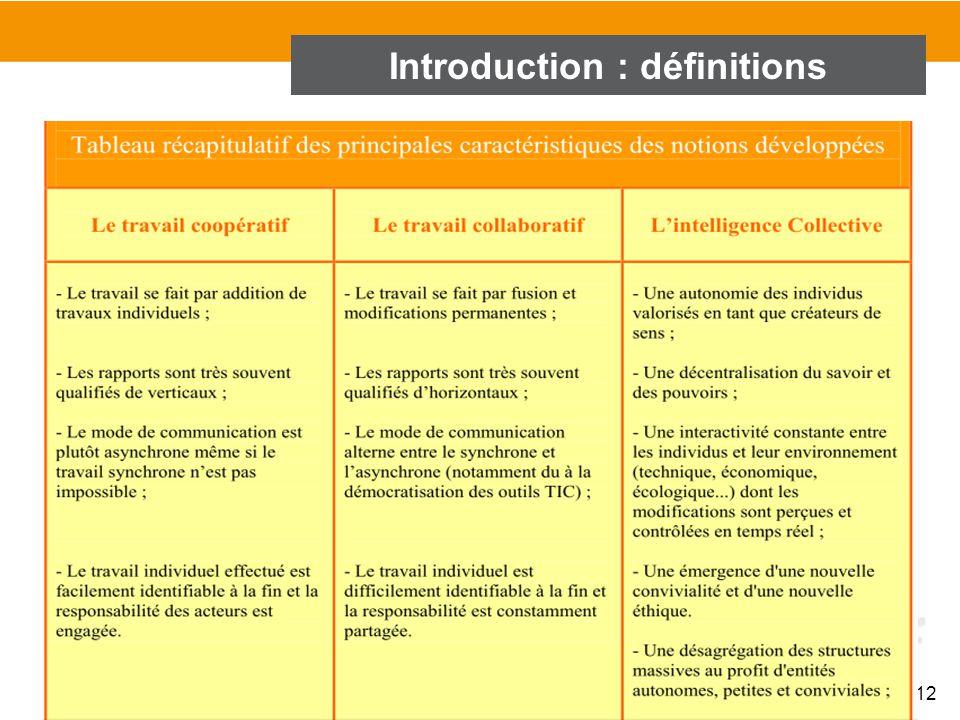 12 Introduction : définitions