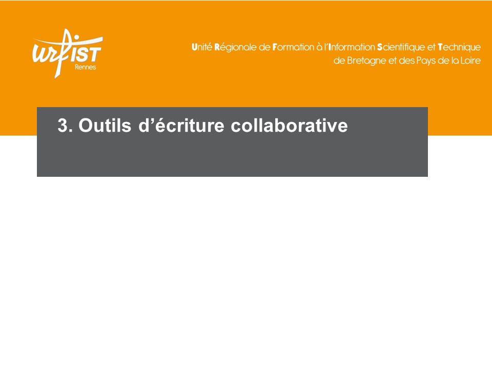 58 3. Outils d'écriture collaborative