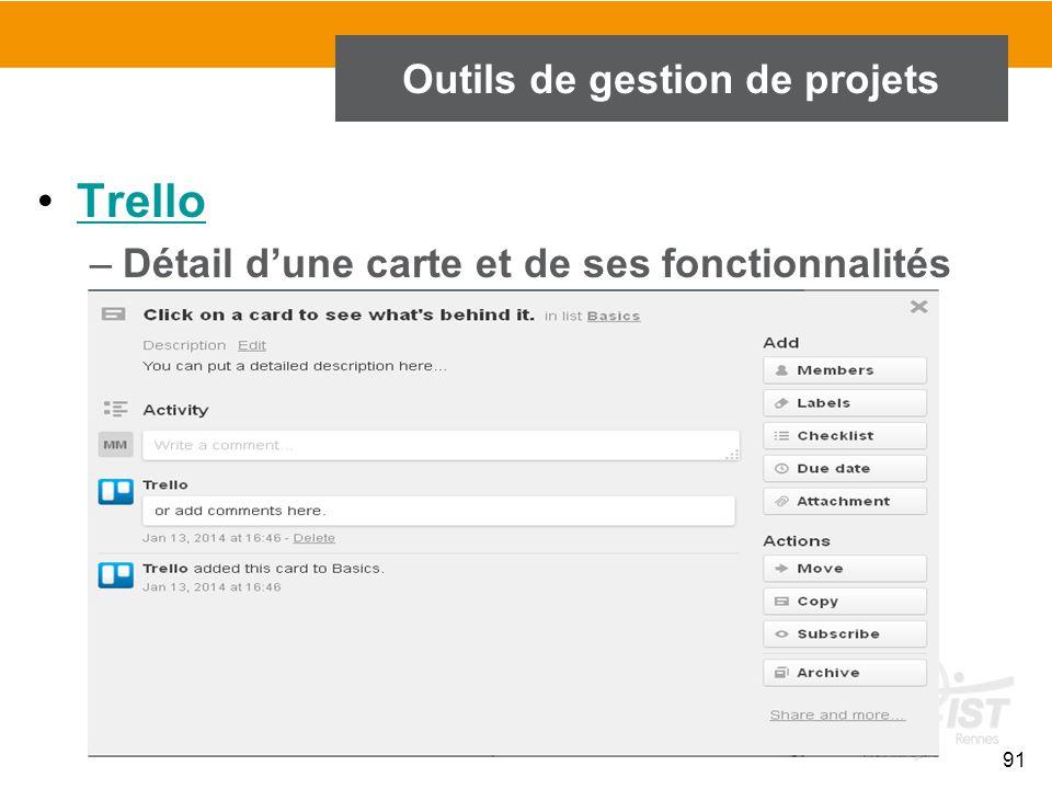 91 Outils de gestion de projets Trello –Détail d'une carte et de ses fonctionnalités